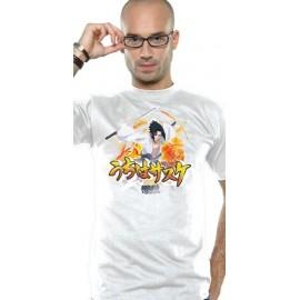 T-Shirt Naruto Shippuden Sasuke Action