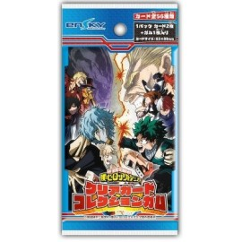 Booster de cartes + chewing-gum My Hero Academia Clear Card Collection Gum
