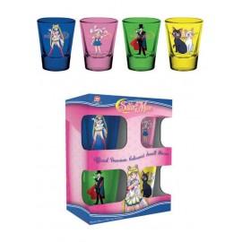 Set de 4 verres à liqueur Sailor Moon Characters & Symbols
