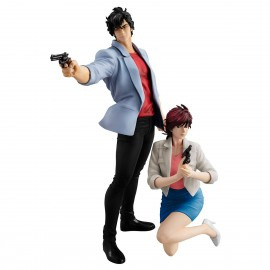 Figurine City Hunter Shinjuku Private Eyes G.E.M. Series Ryo Saeba Ryo & Kaori Makimura