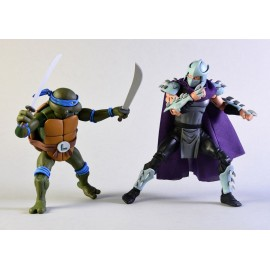 Pack de 2 figurines Tortues Ninja Leonardo Vs. Shredder