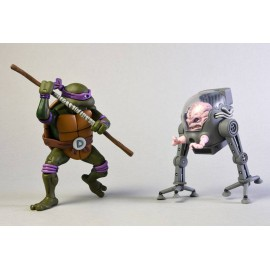 Pack de 2 figurines Tortues Ninja Donatello Vs Krang in Bubble Walker