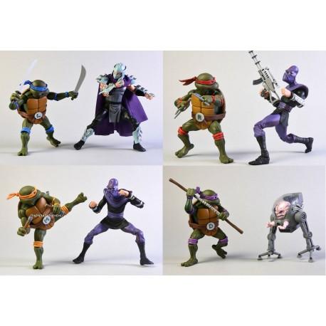 Pack de 8 figurines Tortues Ninja
