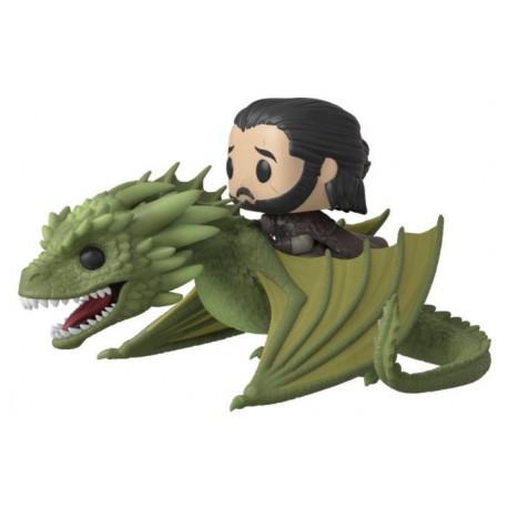 Figurine Game of Thrones POP! Rides Jon Snow & Rhaegal