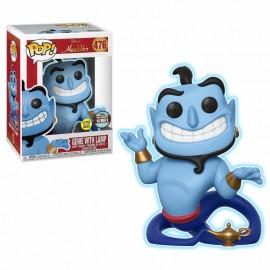 Figurine Disney Aladdin POP! Le Génie avec la Lampe Phosphorescent
