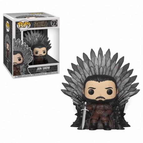 Fugurine Game of Thrones POP! Deluxe Jon Snow sur le trône de fer