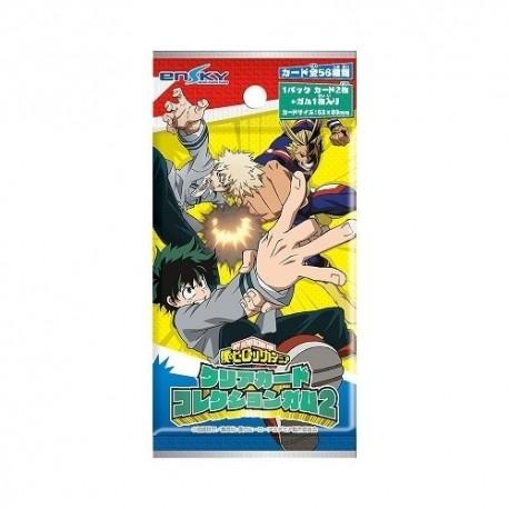 Booster de cartes My Hero Academia Clear Card Collection Gum 2