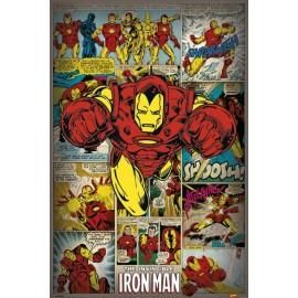 Poster Iron Man Rétro