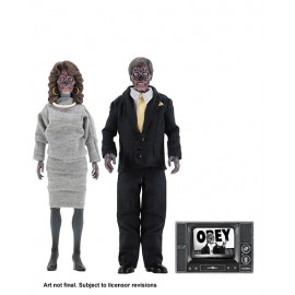 Pack de 2 Figurines Invasion Los Angeles Retro Aliens