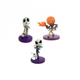 Lot de 3 Figurines L'Étrange Noël De Mr Jack Skellington Chibikko Collection