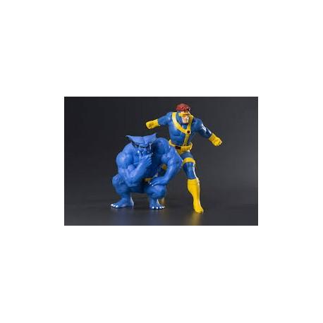 Pack de 2 figurines Marvel X-Men '92 ARTFX+ 1/10 Cyclope + le Fauve
