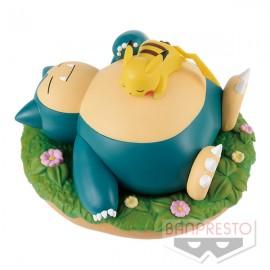 Diorama Pokémon Ronflex & Pikachu Sleeping version