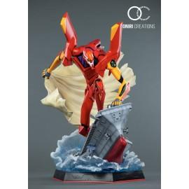 Figurine Neon Genesis Evangelion Diecast Metal Build EVA-02 Production Model