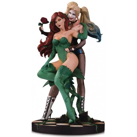 Statuette DC Designer Series Harley Quinn & Poison Ivy by Lupacchino