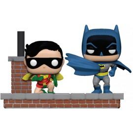 Pack de 2 figurines Batman 80th POP Movie Moment! Batman & Robin (1964)