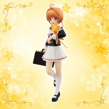 Figurine CardCaptor Sakura Clearcard Special Figure Sakura Kinomoto Uniform Version & Kero-chan
