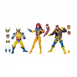 Pack de 3 figurines Marvel Legends 80th Anniversary X-Men Wolverine, Jean Grey & Cyclops