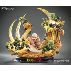 Statuette en résine Dragon Ball Z HQS Krilin Vs Saibamen *PRECO*
