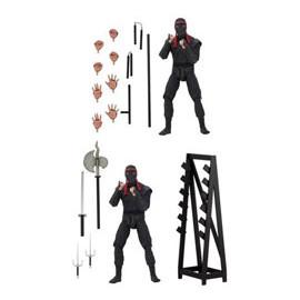 Pack de 2 figurines Tortues Ninja Foot Soldiers avec armes et présentoire