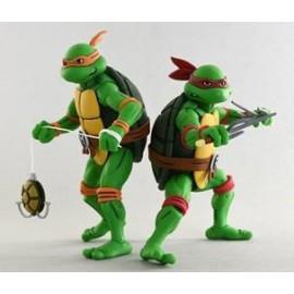 Pack de 2 figurines Les Tortues Ninja Michelangelo & Raphael