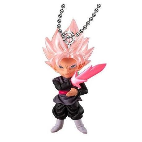 Porte-clés figurine Dragon Ball Super UDM Burst 38 Black Goku Rosé