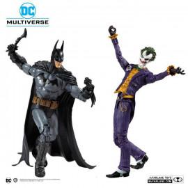 Pack de 2 Figurines Articulées DC Comics Multiverse Collector Multipack Arkham Asylum Batman VS  Joker