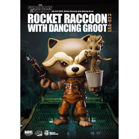 Figurine Marvel Les Gardiens de la Galaxie Egg Attack figurine Rocket Raccoon with Dancing Groot