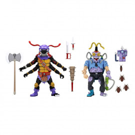 Pack de 2 figurines Les Tortues Ninja Antrax & Scumbug