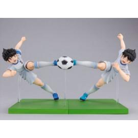 Lot de 2 figurines Captain Tsubasa Twin Shot Ozora Tsubasa & Misaki Taro