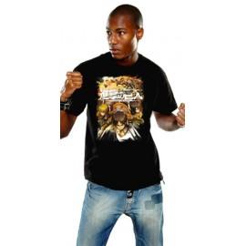 T-Shirt L'Attaque des Titans Crew Fight Noir
