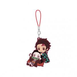 Porte-clés en caoutchouc Demon Slayer Capsule Rubber Mascot 5 Nezuko Kamado & Tanjiro Kamado