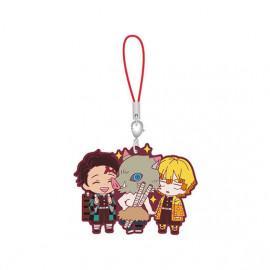 Porte-clés en caoutchouc Demon Slayer Capsule Rubber Mascot 5 Zenitsu Agatsuma, Inosuke Hashibira & Tanjiro Kamado