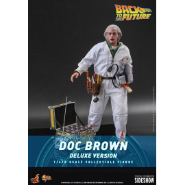 Figurine Retour vers le Futur Movie Masterpiece 1/6 Doc Brown Deluxe Version