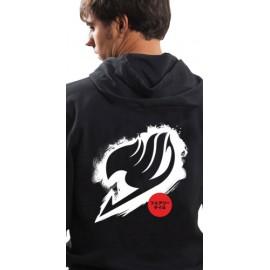 Sweat-Shirt à capuche Fairy Tail Logo Blanc