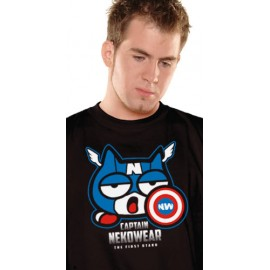 T-Shirt Captain Neko (Parodie Captain America)