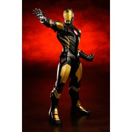 Figurine Marvel Comics ARTFX+ 1/10 Avengers Now Iron Man (Noir et Or)