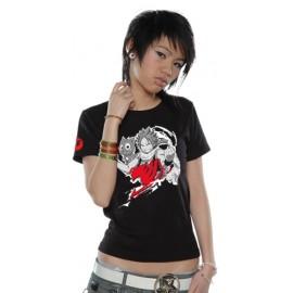 T-Shirt Fairy Tail Natsu Cloud femme