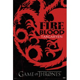 Poster Game Of Thrones Targaryen Sigil
