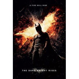 Poster Batman The Dark Knight Rises A Fire Will Rise