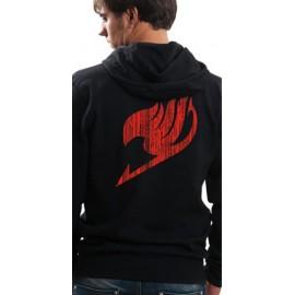 Sweat-Shirt à capuche Fairy Tail Logo Rouge