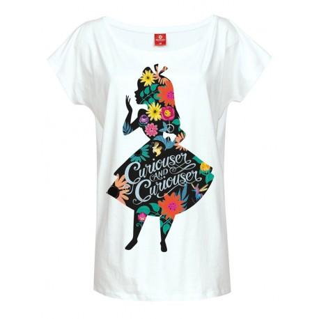 T-Shirt Femme Disney Alice Au Pays Des Merveilles Flower Power