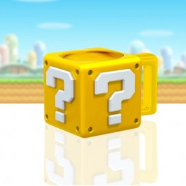 Mug Super Mario Bros en forme de Bloc Mystère