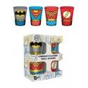Set de 4 verres à liqueur DC Comics Justice League Premium Costumes