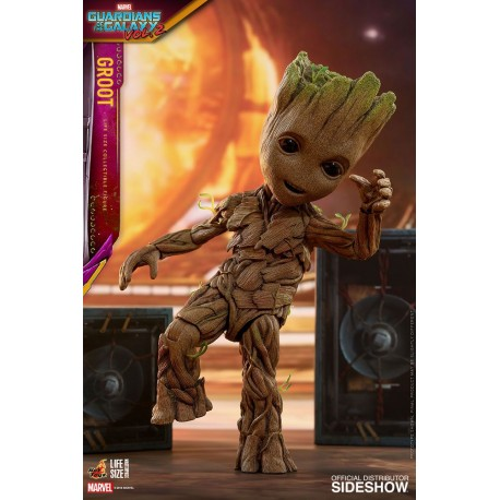 Figurine Les Gardiens de la Galaxie Vol. 2 1/1 Life-Size Masterpiece Groot Slim Version