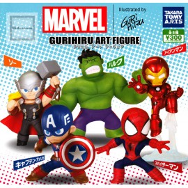 Lot de 5 figurines Marvel Avengers Gurihiru Art Figure