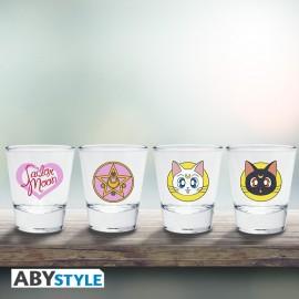 Set de 4 verres à liqueur Sailor Moon Emblème