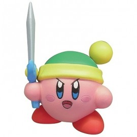 Figurine Kirby's Battle Deluxe Manmaru Mascot Kirby Rose avec Epée