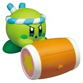 Figurine Kirby's Battle Deluxe Manmaru Mascot Kirby Vert avec Marteau