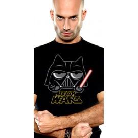 T-Shirt Neko Vador Stop Wars Noir (Parodie Darth Vader Star Wars)