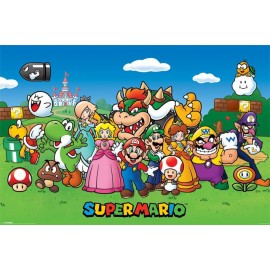 Poster Super Mario Bros Characters